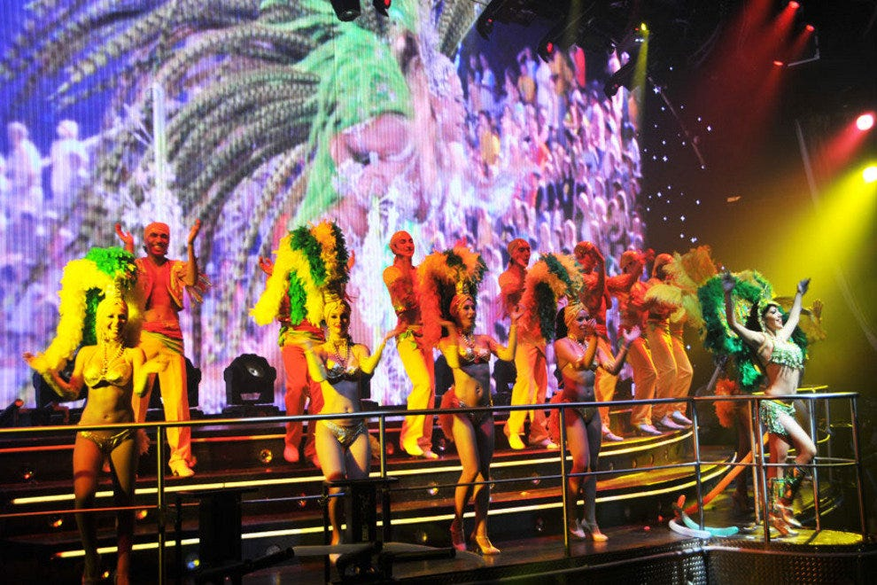 Dancers from one of the many performances that Coco Bongo has each evening.