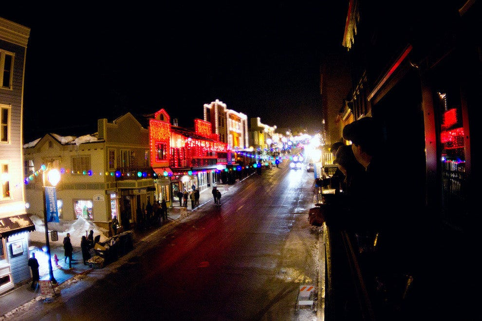 Park City's Main Street Dressed up for the Holidays