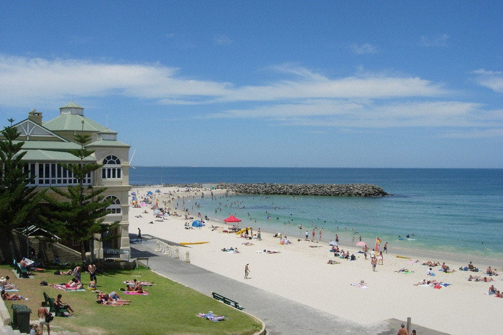 Cottlesloe Beach draws Beachgoers to Perth
