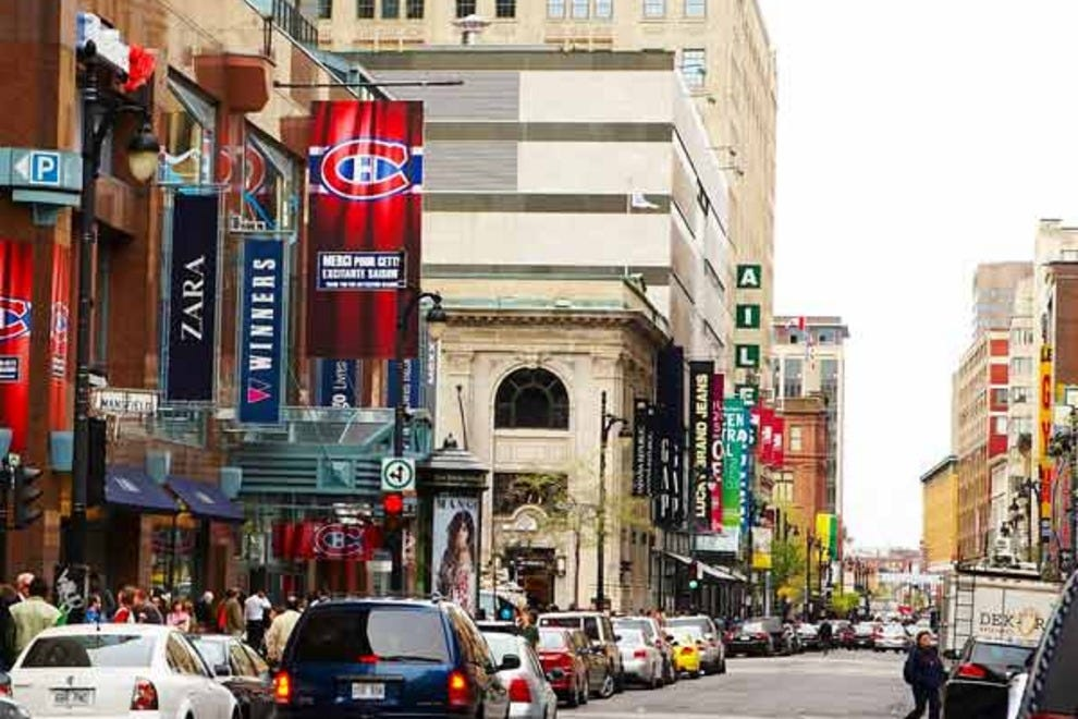 The Montreal Eaton Centre is a shopping mall located in Montreal, Quebec, Canada. It is located in the heart of Downtown Montreal in the underground city, and is connected to the Montreal Metro via.