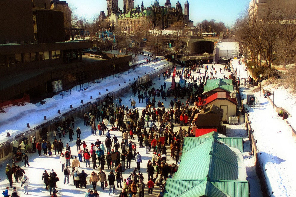 View of the Rideau Canal Skateway.