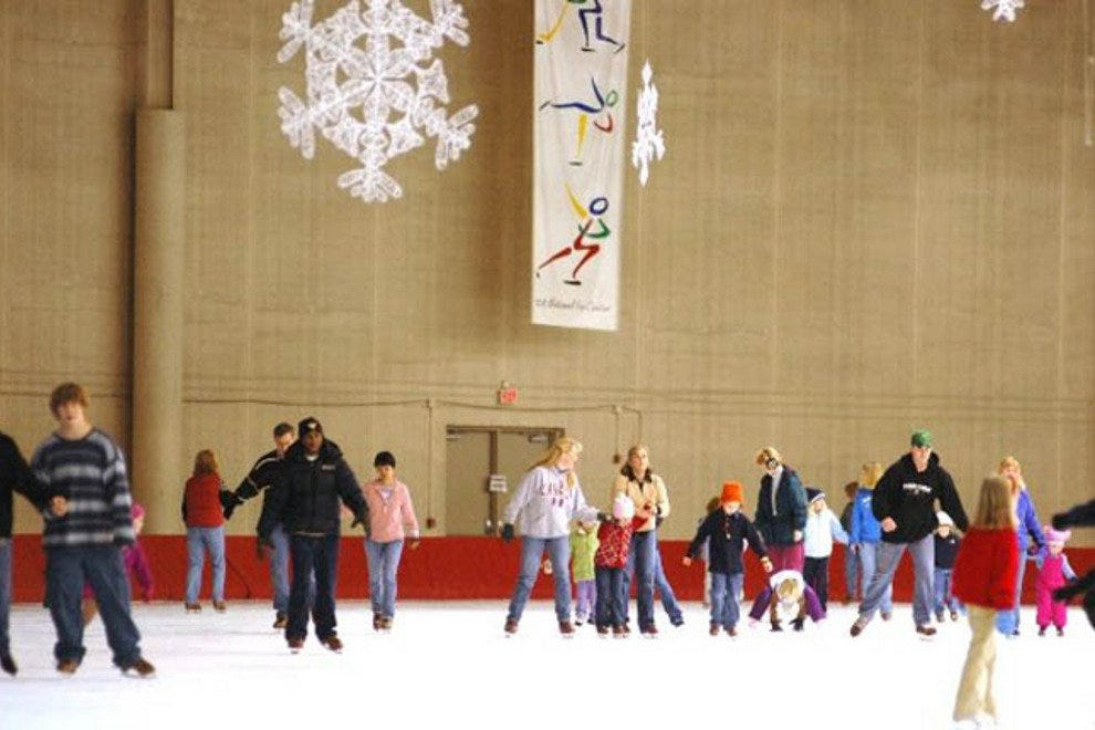 Families gather to skate in Milwaukee's Pettit National Ice Center.