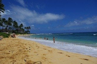 Poi'pu Beach Park and Brennecke's Beach