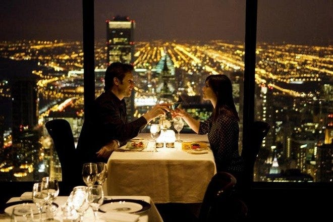 From swanky lounges to skyline views: romantic dining in Chicago - chicago