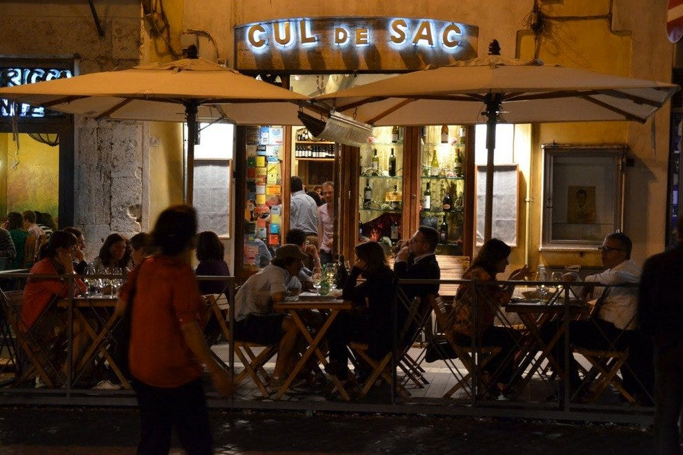 Italian Foods Near Me: Cul De Sac: Rome Restaurants Review