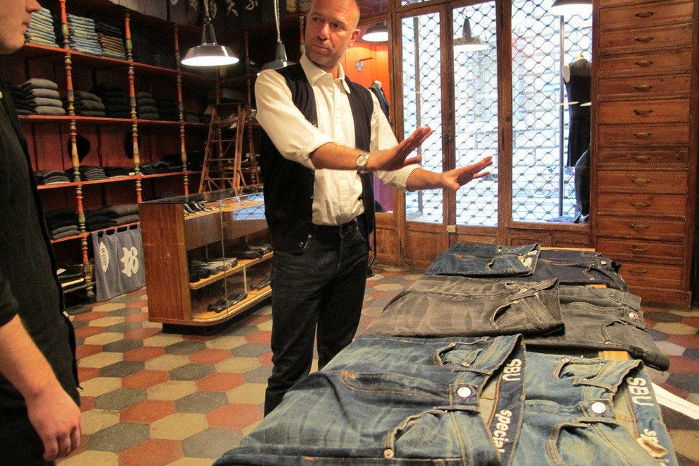 Shopping for jeans in Rome