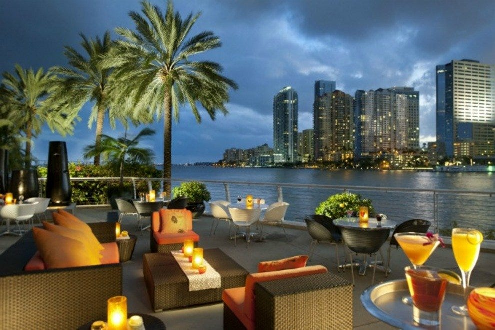 Canoodle outdoors in winter, at Miami's Mandarin Oriental