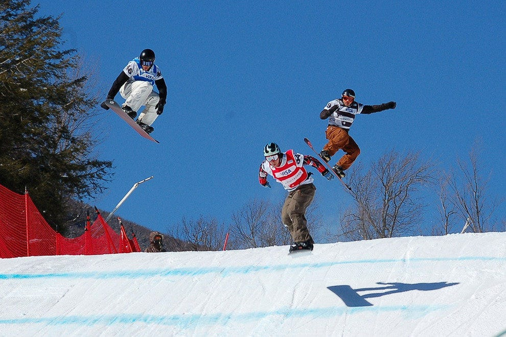 Lake Placid New York is great for winter sports like skiing