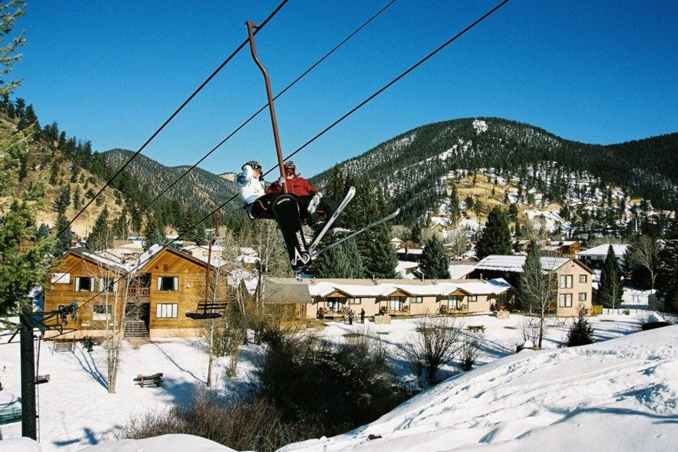 Ski in ski out at Copper Kin Lodge, Red River, New Mexico