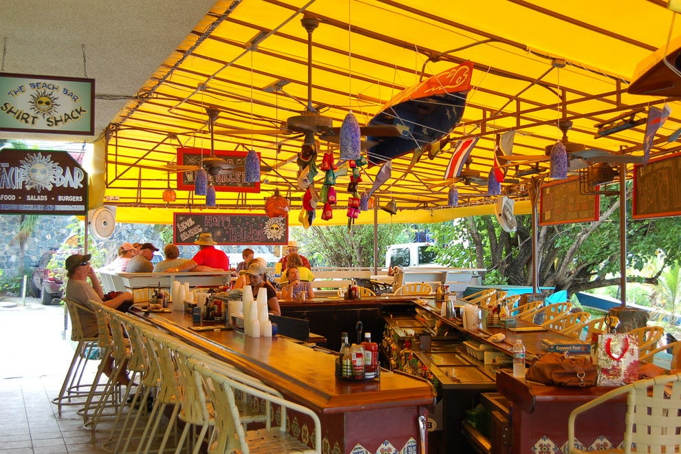 The beach bar u s virgin islands nightlife review for Food bar john roe