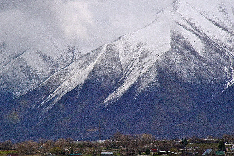 The Southern Wasatch Towering over Spanish Fork