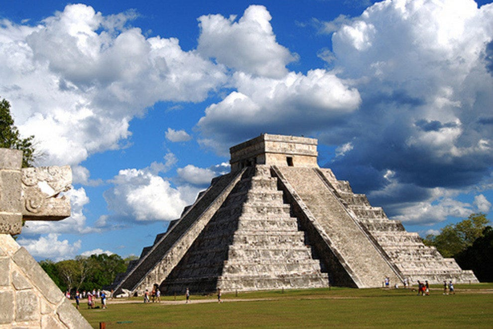 Kukulkan Pyramid, the iconic pyramid at the ruins of Chichen Itza.