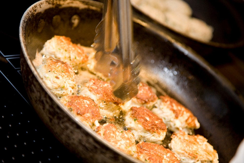 Crab Cakes With Caper Dill Sauce