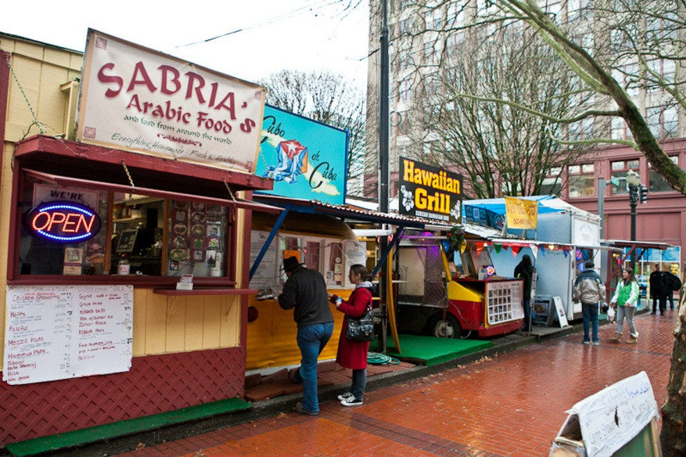 Food from around the world at 5th and Stark in downtown Portland