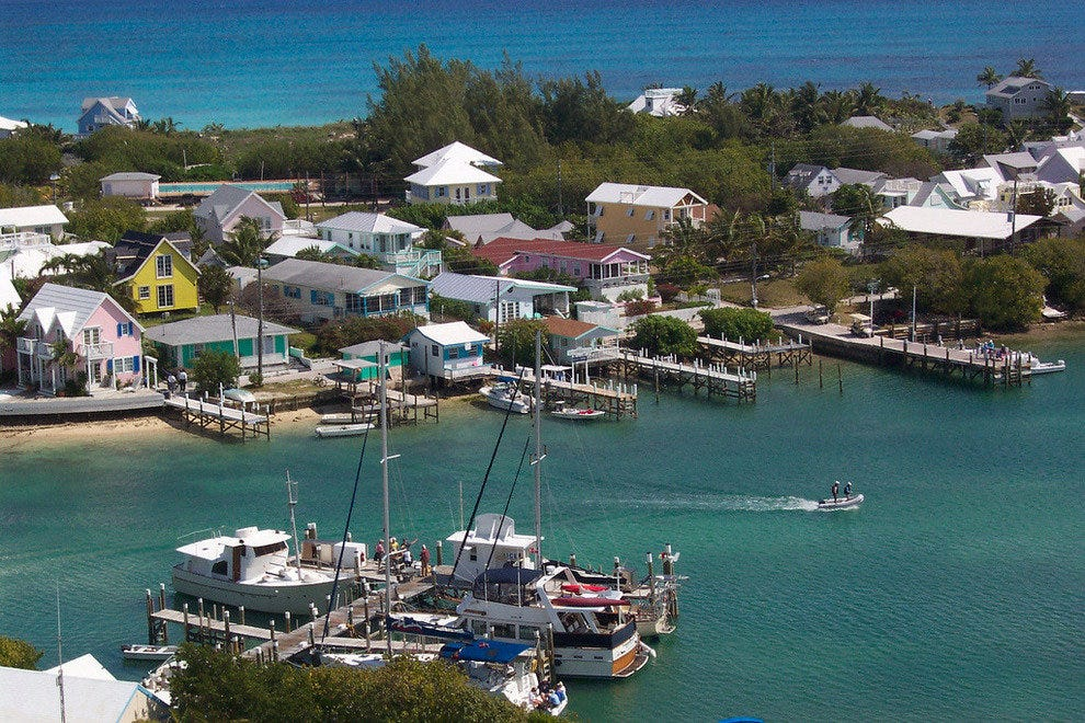 Hopetown village dates to 1800s and harbour is picture-perfect