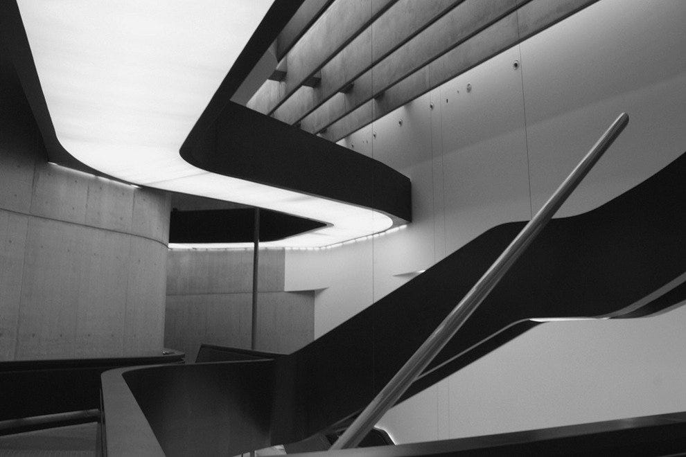 Explore the MAXXI museum on a rainy day
