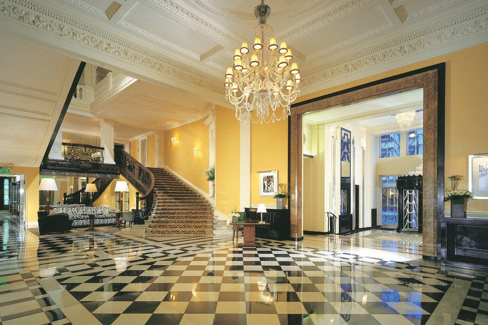 Claridge's classic lobby lets you know you've arrived somewhere special