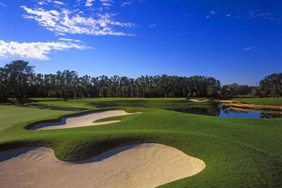 Golf course at The Breakers Palm Beach offers gorgeous landscape in addition to challenge