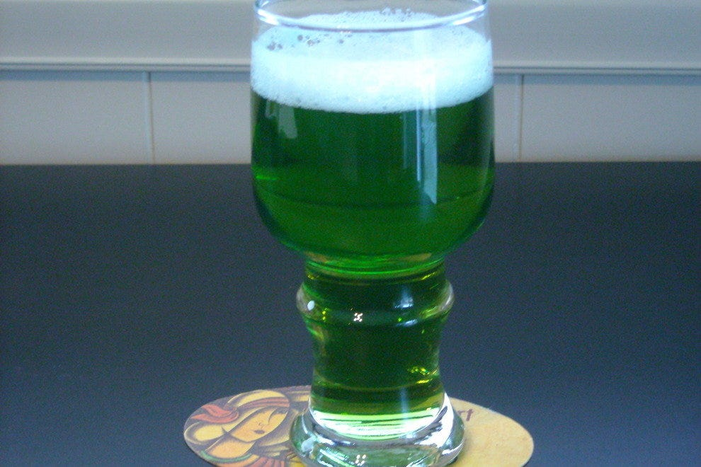 Green beer is on tap for St. Patrick's Day.