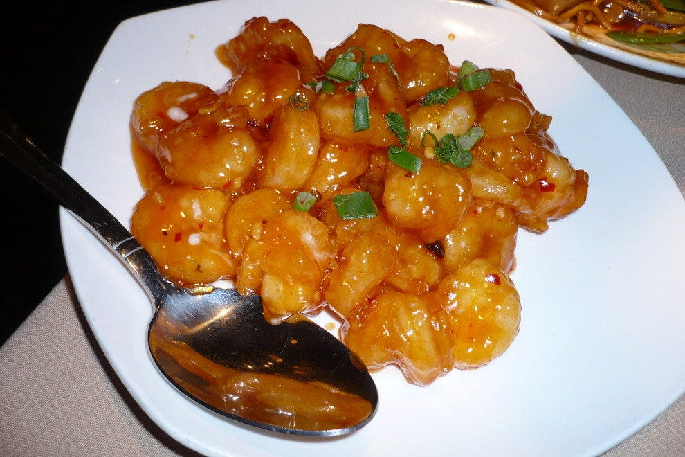 Aromatic sweet and sour shrimp