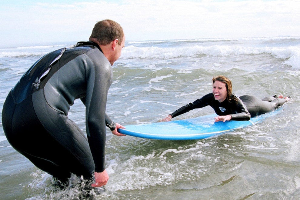 Learning to Surf at Loews Coronado Bay Resort