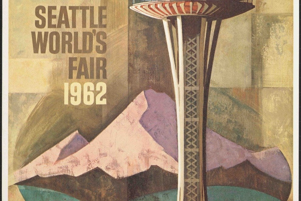 A Seattle World's Fair poster from the collection of the Washington State History Museum in Tacoma.