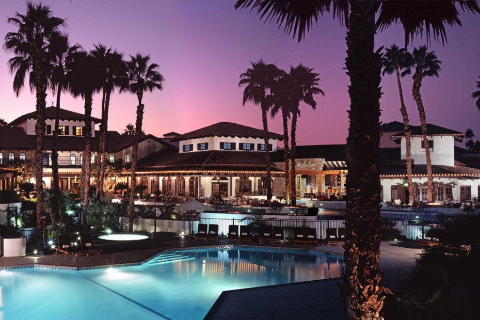 Omni Rancho Las Palmas Resort & Spa, view on pool and terrace