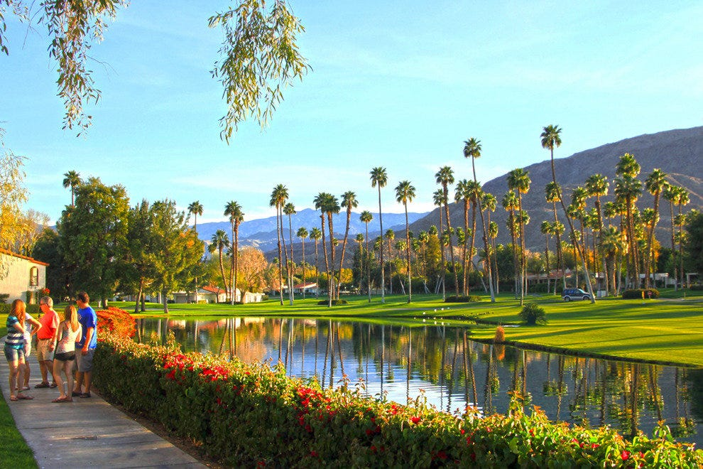 Omni Rancho Las Palmas Resort & Spa, view on resort grounds