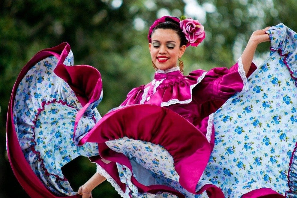 Mexican Dancer at Olvera Street Festival