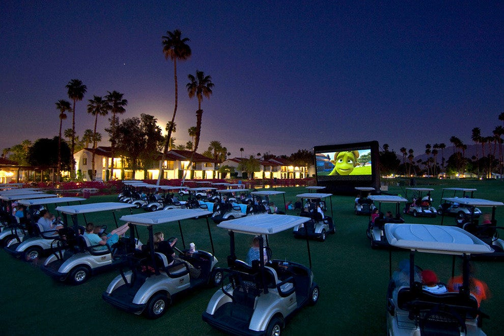 Omni Rancho Las Palmas Resort & Spa, movie night on the golf course