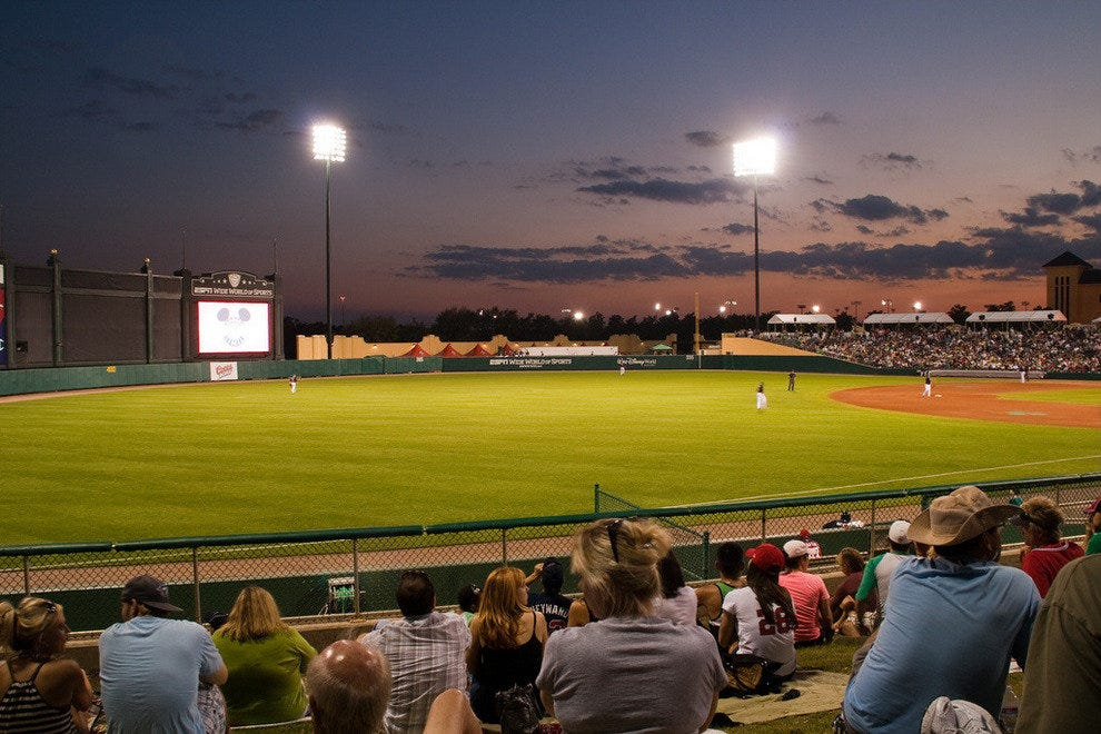 Just outside Orlando is where you're find the Atlanta Braves spring training games