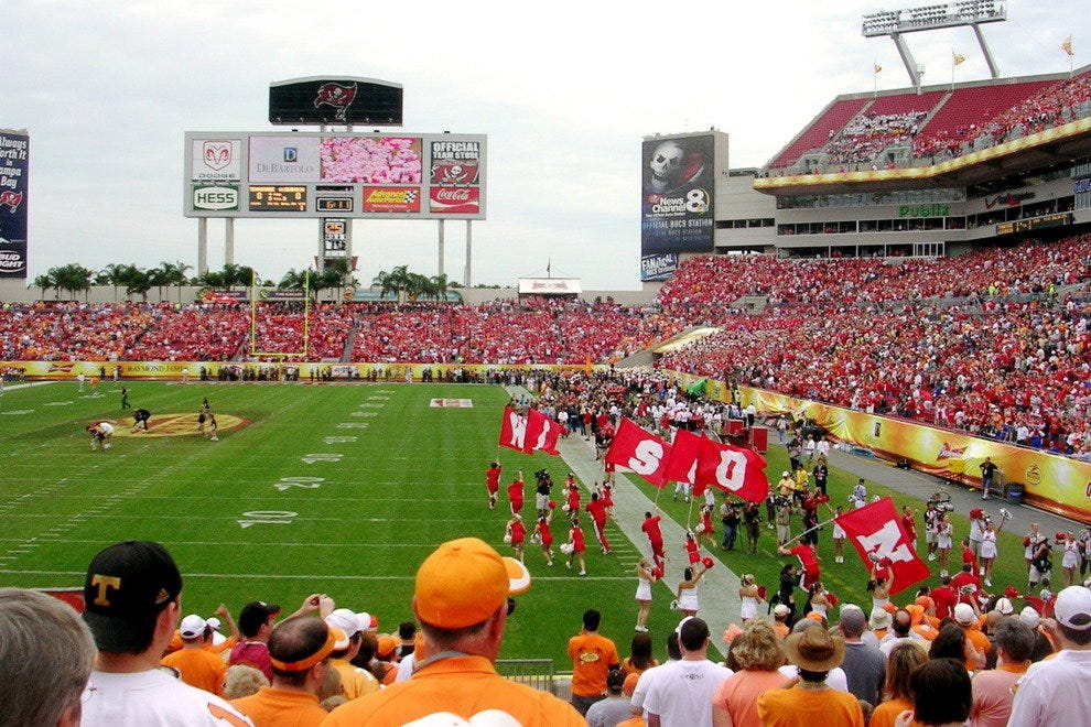 University of Wisconsin – Madison football, playing at the Outback Bowl in Tampa, FL
