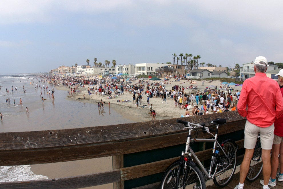 San Diego Beaches, Imperial Beach Bicyclists