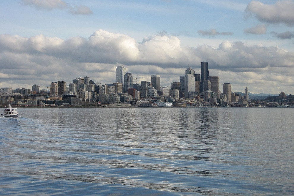 The Seattle skyline from the water