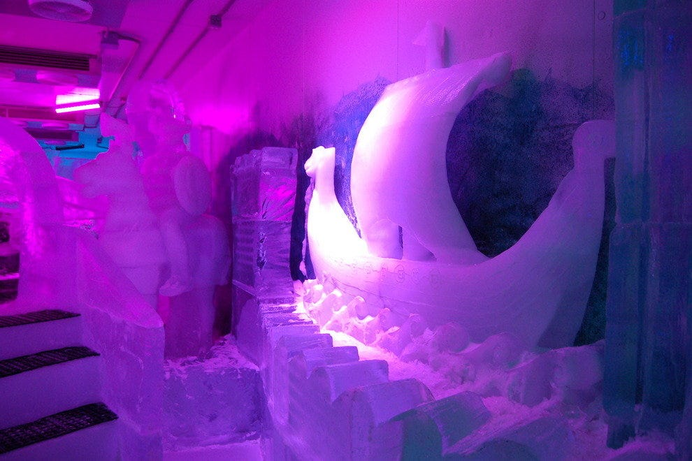 Viking ship, sculpted in ice at the Magic Ice Gallery, St. Thomas