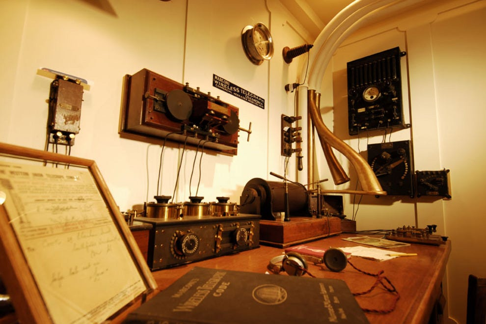 The Titanic Museums in Branson and Pigeon Forge have Marconi Rooms