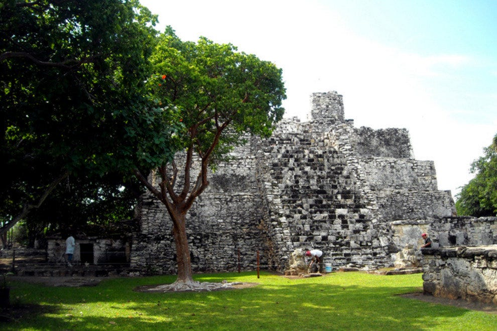 The archaeological site of El Meco is north of downtown Cancun