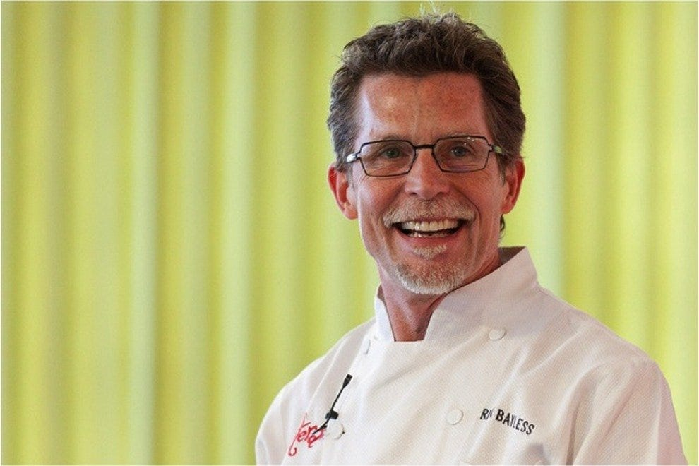 celebrity chef Rick Bayless of Topolabampo, XOCO, and Frontera Grill takes the stage