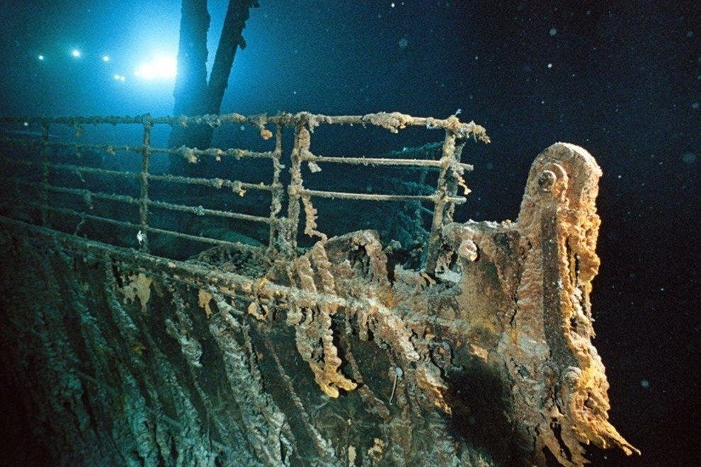 RMS Titanic as seen by Joslyn's salvage crew