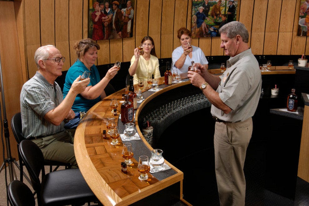 A bourbon tasting at Heaven Hill