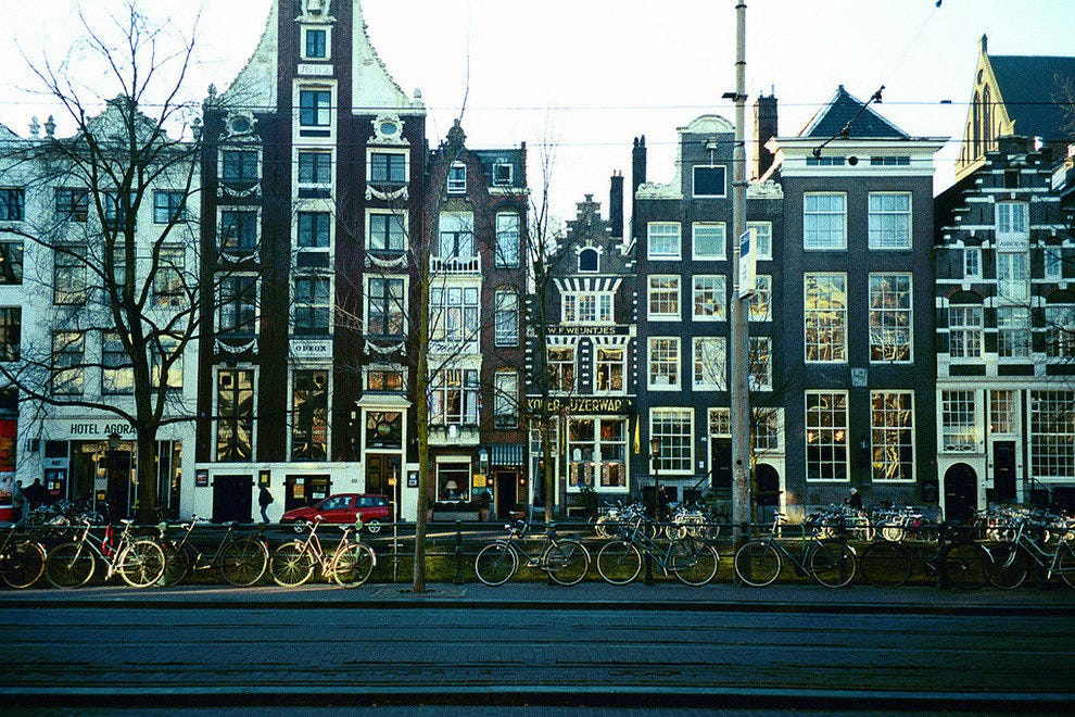 Bikes, tall houses and canals, Amsterdam