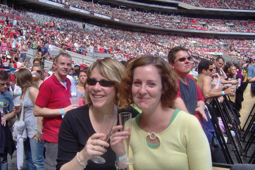 Taking in a show at Wembley Stadium