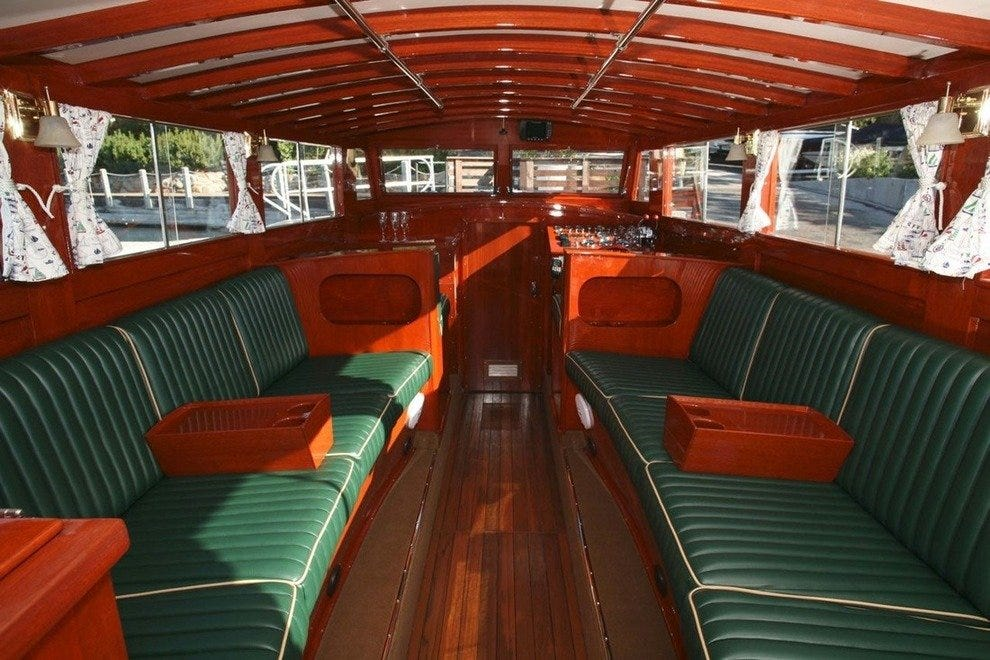 The interior of the Wild Goose II