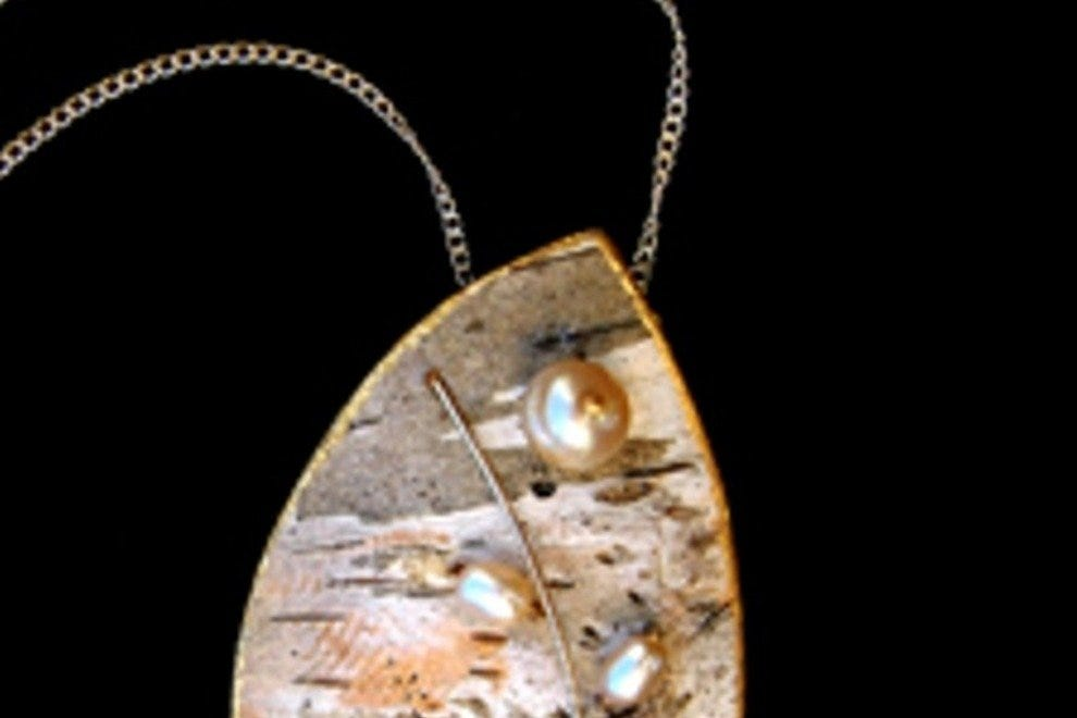 Birch Bark Jewelry now available at the Ogunquit Musem gift shop.