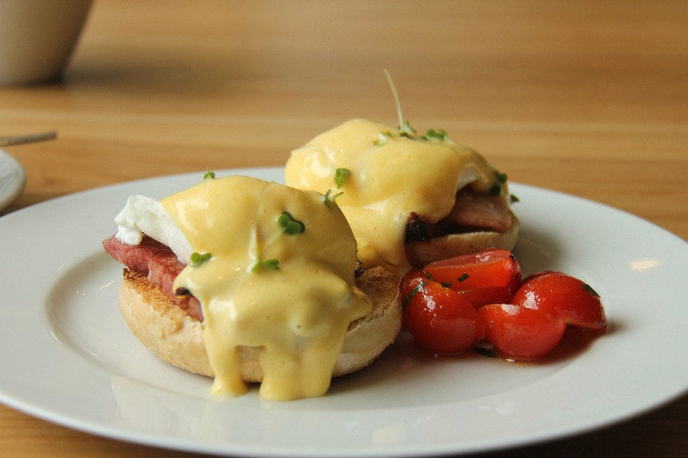 The Gold Hill Sunday Brunch serves Eggs Benedict