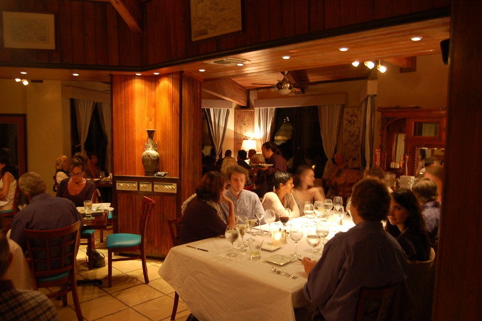 The dining room at Blue Orchid