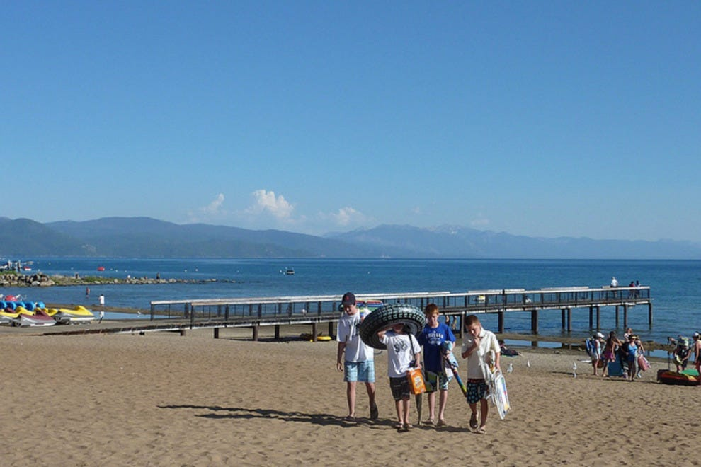 Kings Beach Is One Of The More Densely Poted Areas Lake Tahoe It Located On North S Just After Border Between Nevada And California