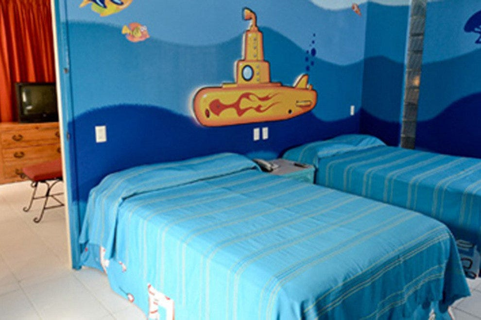 "The ""under the sea"" themed room at Oasis Palm."