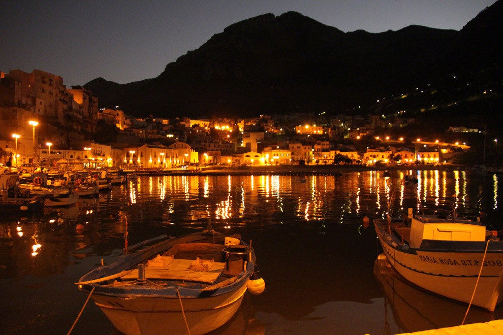 Sicily, Evening at the Bay of Castellamare