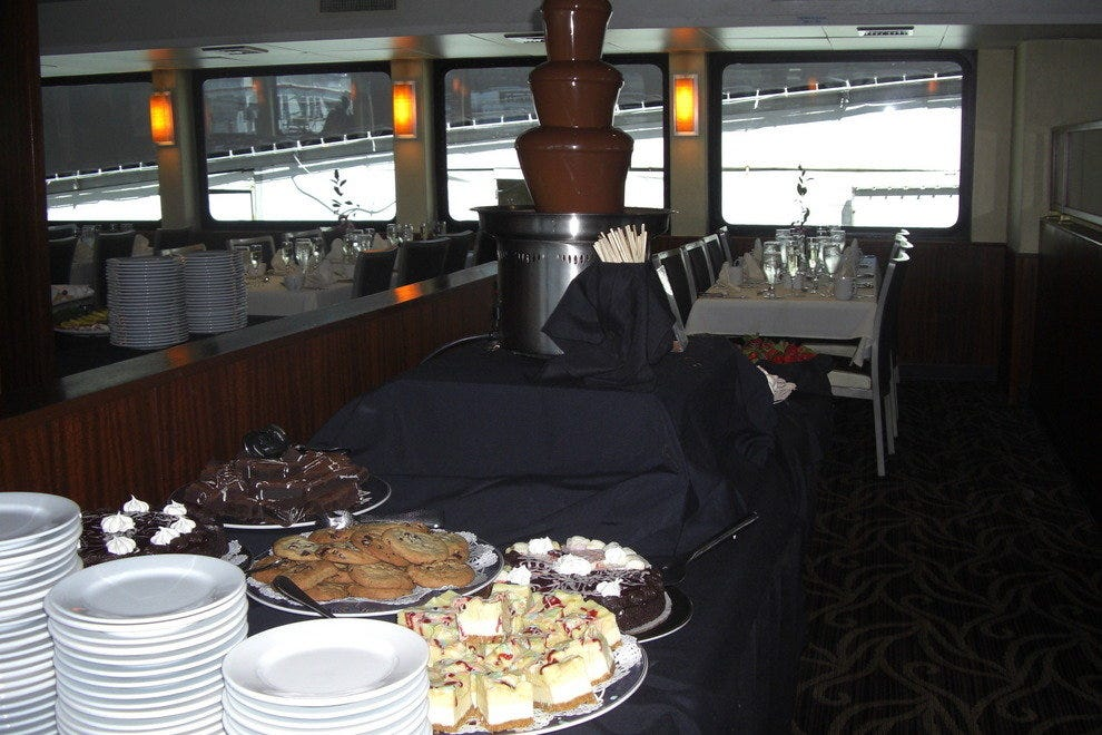 The dessert buffet